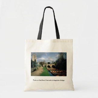 Punts on the River Cherwell at Magdalen Bridge Tote Bag