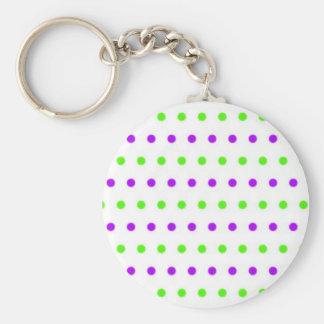 puntúa polka dots hots puntuado tocan ligeramente  llavero redondo tipo pin