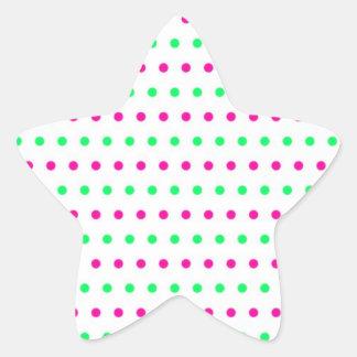 puntúa polka dots hots puntuado tocan ligeramente  pegatina en forma de estrella