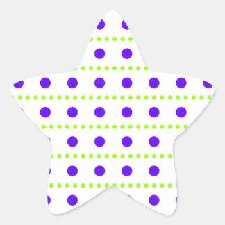 puntúa puntuado kirschen früchte muster pegatina en forma de estrella