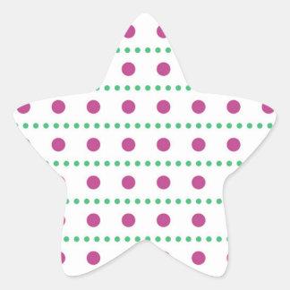 puntúa puntuado punteado muster polka dots pegatina en forma de estrella