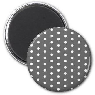 puntuado negro (varios productos elegido) imán redondo 5 cm