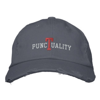 Puntuality Embroidered Baseball Cap