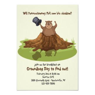 Punxsutawney Phil Groundhog Day Invitation