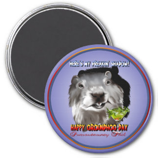 Punxsutawney Phil's Shadow Magnet