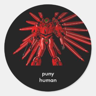 Puny human classic round sticker