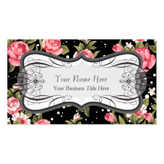 Puny Pink Peonies Florist Flower Shop Double-Sided Standard Business Cards (Pack Of 100)