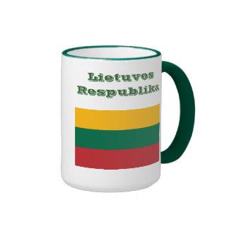 Puodelis de la taza/de Lietuva de Lituania Taza De Dos Colores