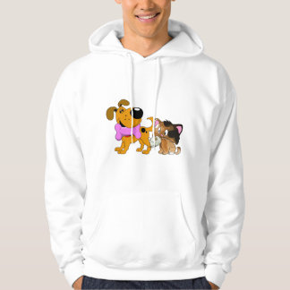 Pup and Kitty with Favorite Treat Hoodie