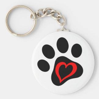 Pup-cake the Service Dog Basic Round Button Keychain