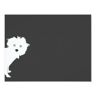 PUP (dark) Personal Stationery/Notecard Card