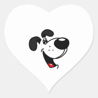 Pup Face Heart Sticker