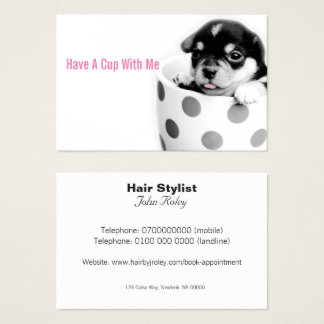 Pup In A Cup Hairdresser Business Card
