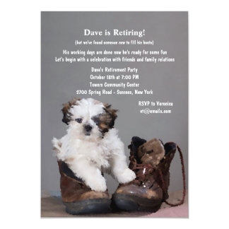 Pup in Boots Invitation