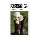 Pup N' Boots Postage Stamp