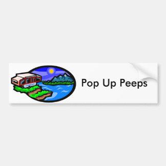 pup, Pop Up Peeps Car Bumper Sticker