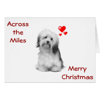 PUP SENDS CHRISTMAS WISH ACROSS THE MILES CARD