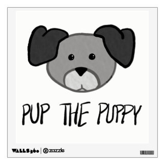 Pup the Puppy -Baby / Kids Room Fun Wall Decal