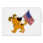 Pup with Flag Card