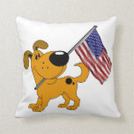Pup with Flag Pillows