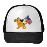Pup with Flag Trucker Hat
