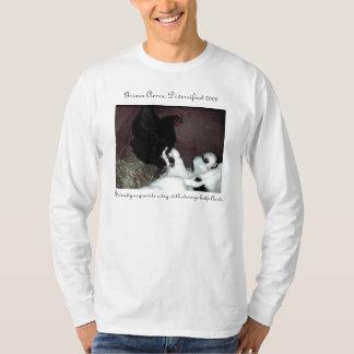 Pup with Hen, Diversity acquaints a dog with st... T-Shirt