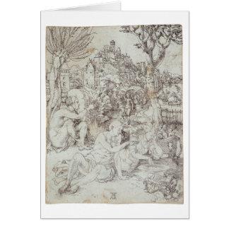 Pupila Augusta Drawing by Albrecht Durer Card