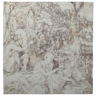 Pupila Augusta Drawing by Albrecht Durer Cloth Napkin