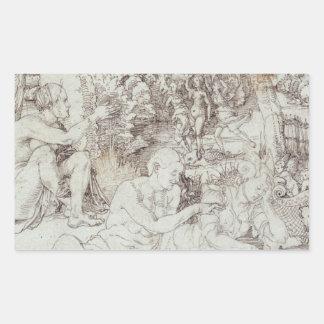 Pupila Augusta Drawing by Albrecht Durer Rectangular Sticker