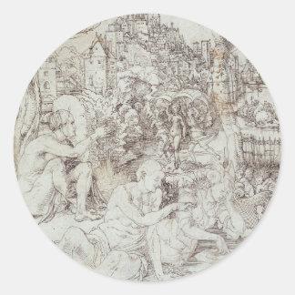 Pupila Augusta Drawing by Albrecht Durer Sticker