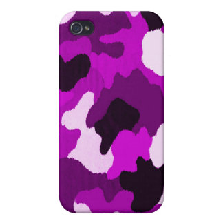 Puple Camo Case For iPhone 4
