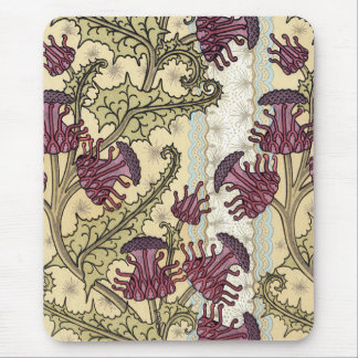 Puple Flowers Mouse Pad