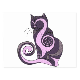 Puple Hypnotcat Postcard (customizable)