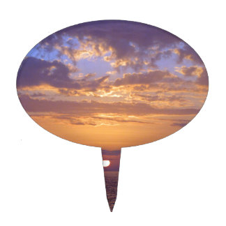 Puple Sunset Cake Toppers