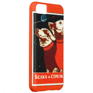 Pupniks Belka & Strelka Soviet Space Dogs iphone5 iPhone 5C Covers