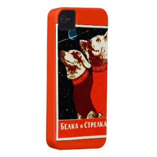 Pupniks Belka y el espacio soviético de Strelka pe Case-Mate iPhone 4 Coberturas