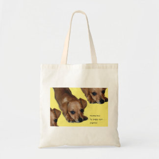 Pupnosis Puppy Haiku Art Tote Tote Bag