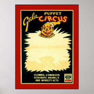 Puppet Circus Print