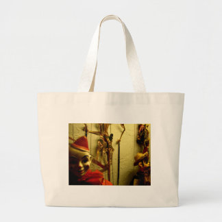 Puppet Face Large Tote Bag