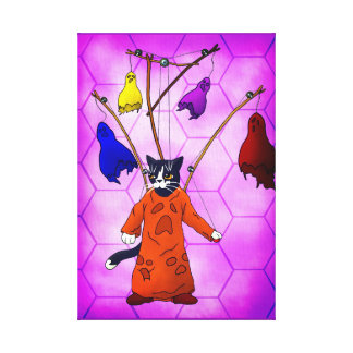 Puppet Master Cat Canvas Print