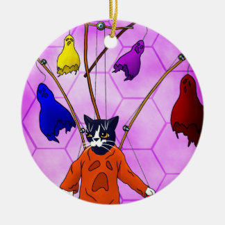 Puppet Master Cat Ceramic Ornament