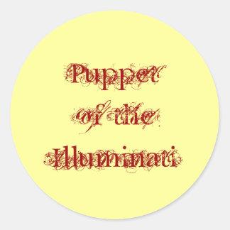 """""""Puppet of the Illuminati"""" Round Stickers"""