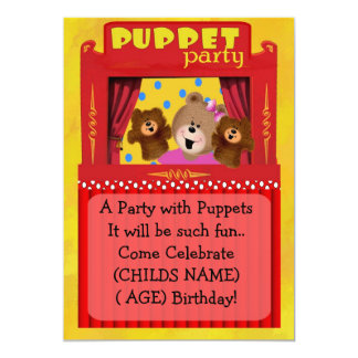 Puppet Party Invitation