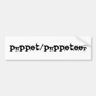 puppet/puppeteer car bumper sticker