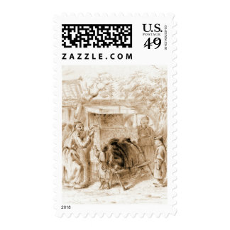 Puppet Show 1860 Stamp