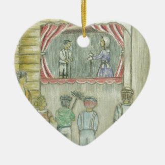 puppet show ceramic ornament