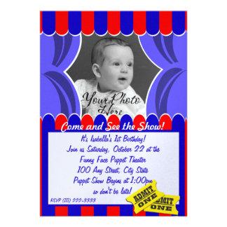 Puppet Show Photo Invitation
