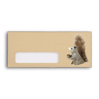 Puppet Squirrel Envelope