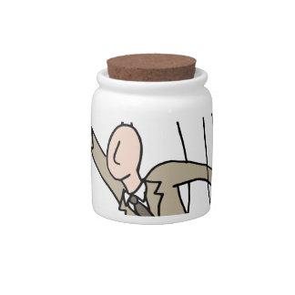 Puppet String Businessman Candy Jars