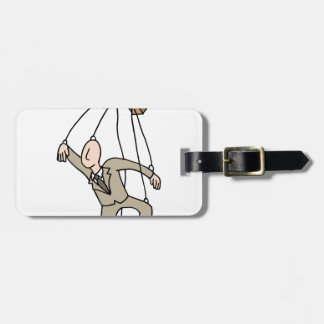 Puppet String Businessman Luggage Tag
